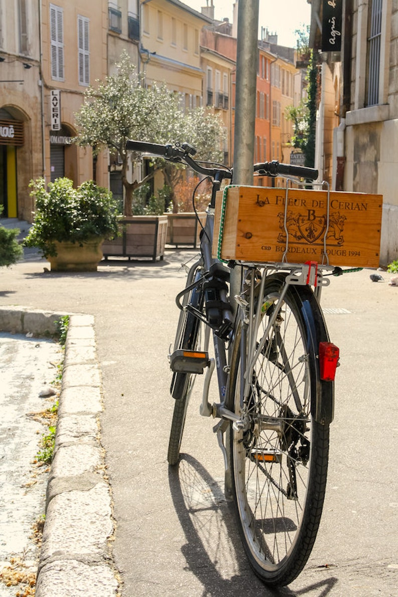 Wine bicycle in Aix-en-Provence fine art paris photography image 0