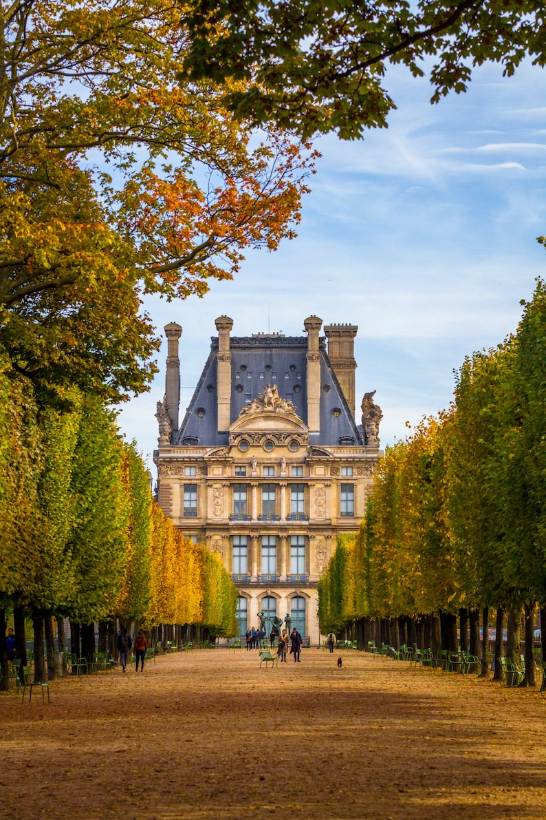 Fall in Paris at the Louvre fine art Paris photography image 0