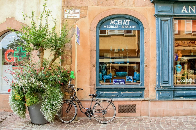 Colorful Colmar Alsace bicycle photography France photo image 0