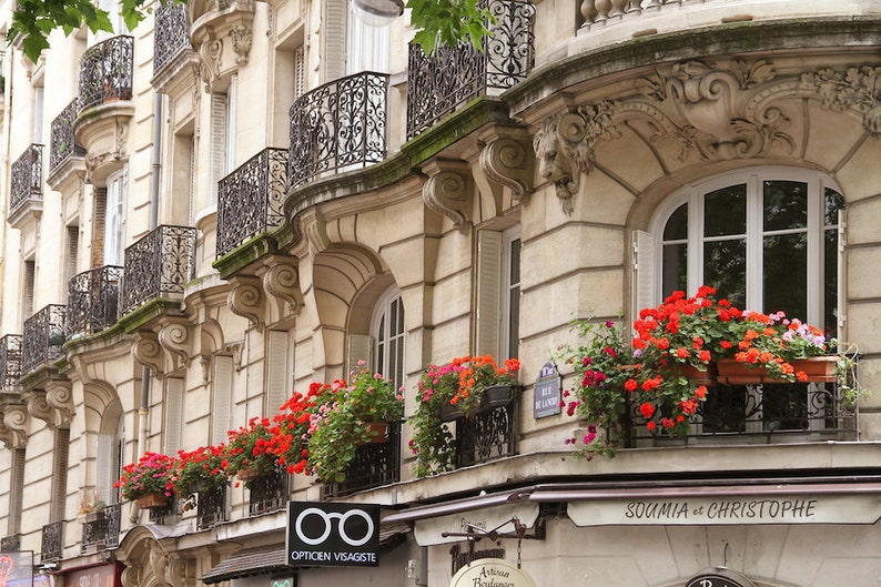 Parisian 10e balconies Falling Off Bicycles fine art Paris image 0