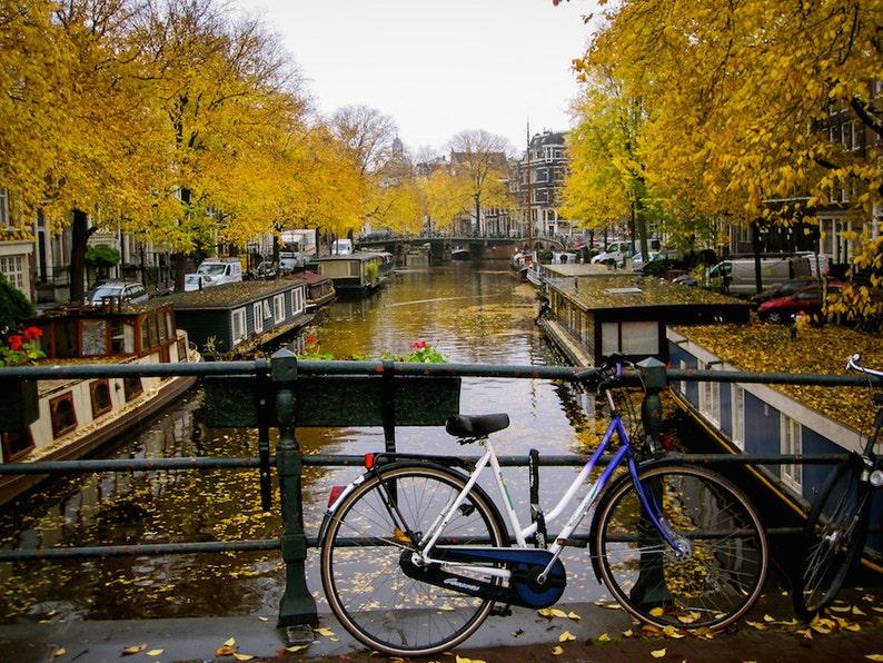 Amsterdam bike photo solo bike parking bicycle photo fine image 0