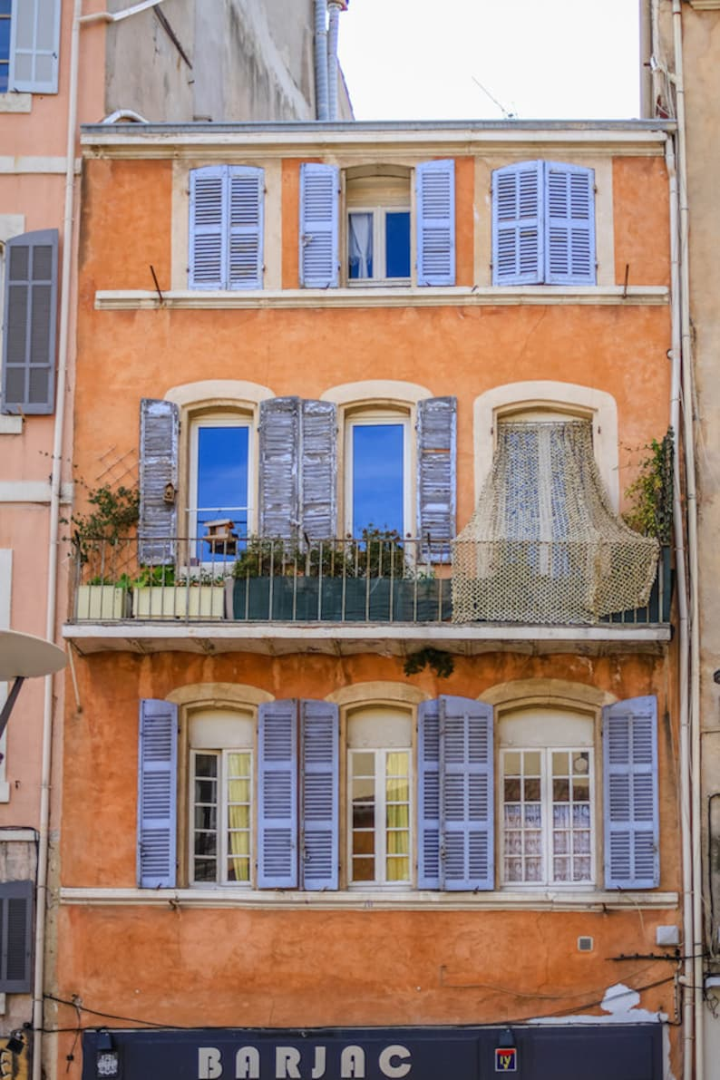 Provence shuttered windows scene south of France colorful image 0
