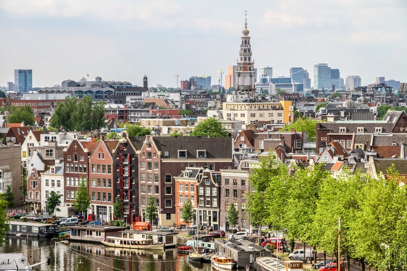 Amsterdam aerial view Dutch architecture fine art image 0