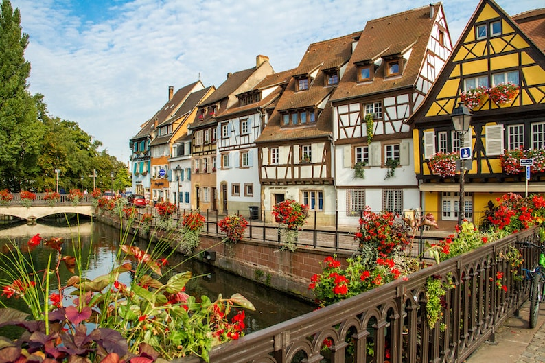 Colorful Colmar Alsace Petite Venise France photo Falling image 0