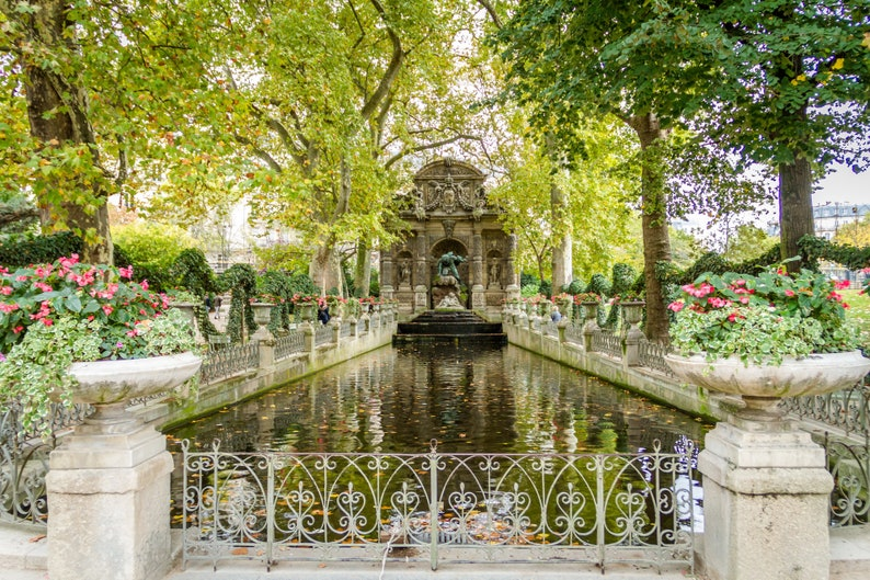 Early fall in Luxembourg Gardens fine art Paris photography image 0