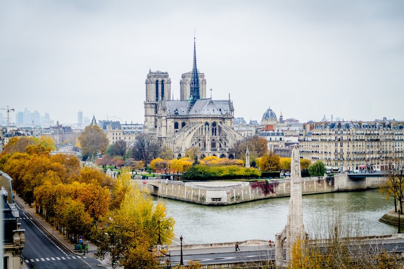 Parisian aerial view Notre Dame Paris fine art paris image 0
