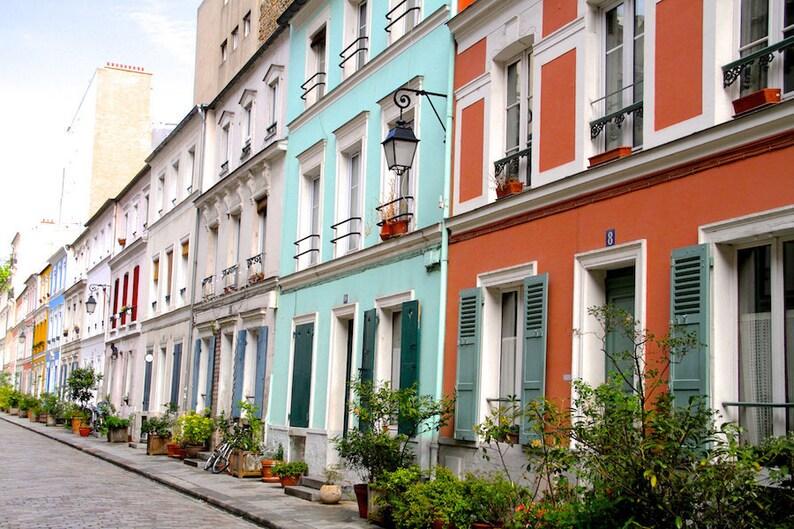 Rue Crémieux Paris colorful photo fine art paris photography image 0