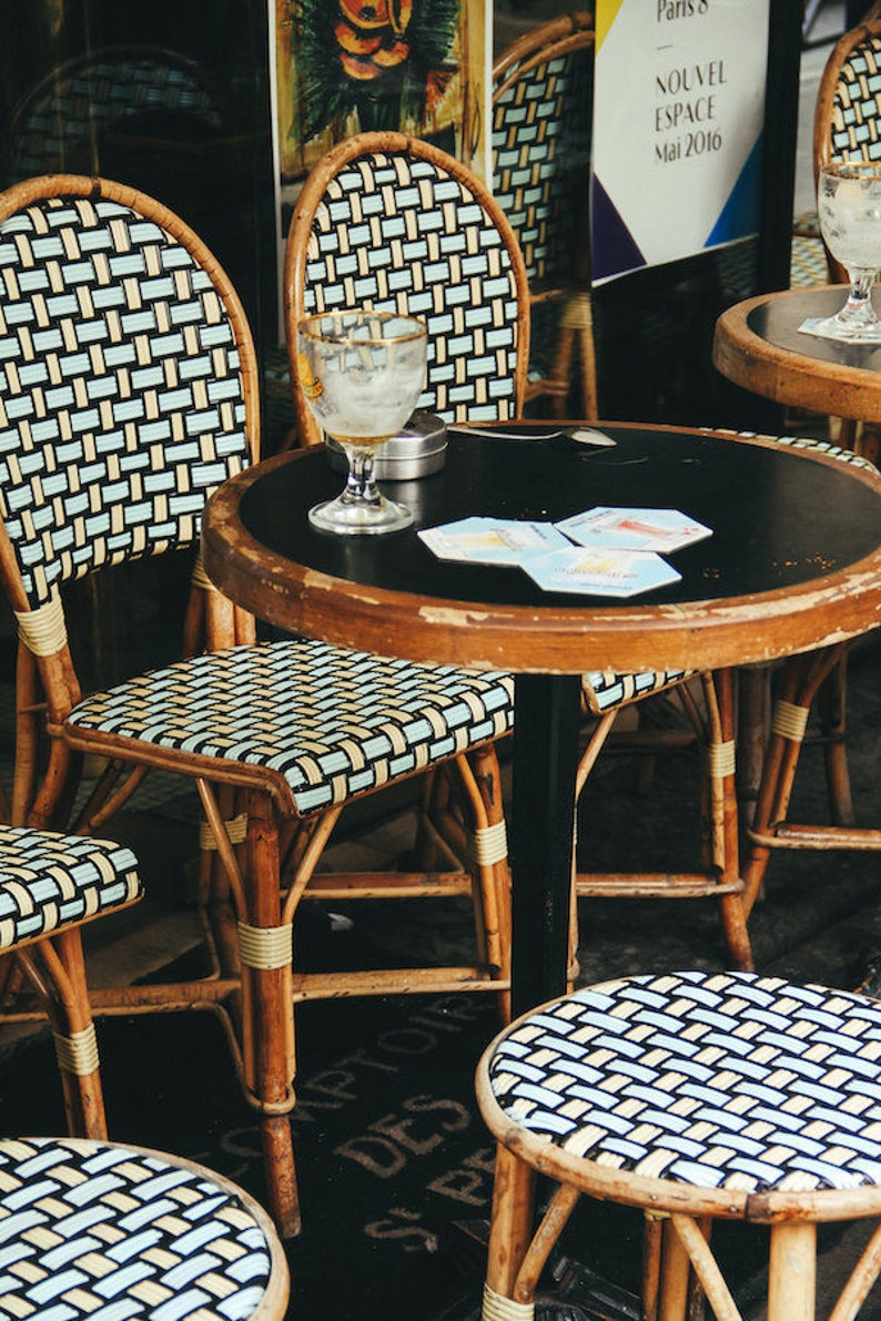 Café table Paris Falling Off Bicycles fine art Paris travel image 0