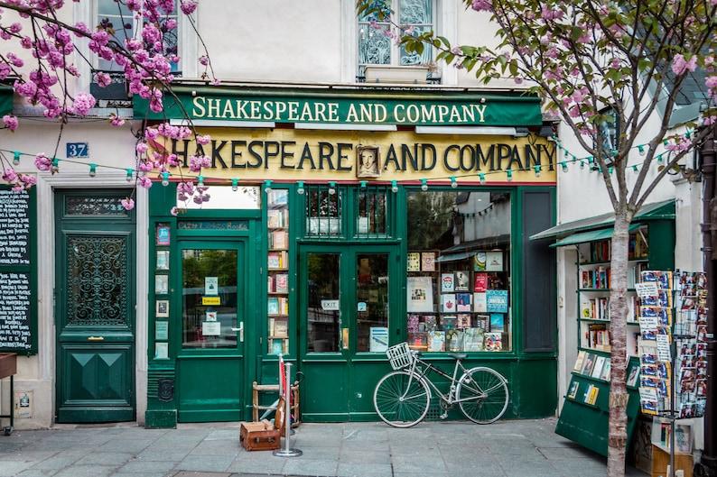 Shakespeare & Co. in Spring Classic Parisian florist façade image 0