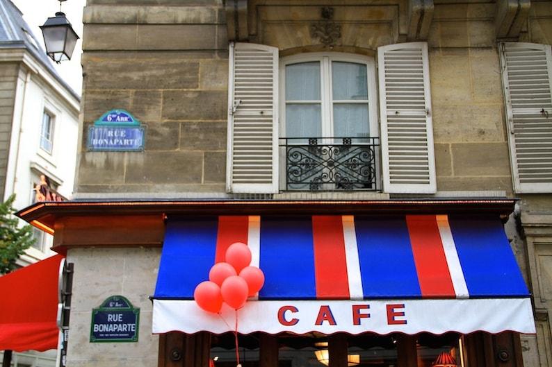 Paris red balloon photo fine art Paris photography travel image 0