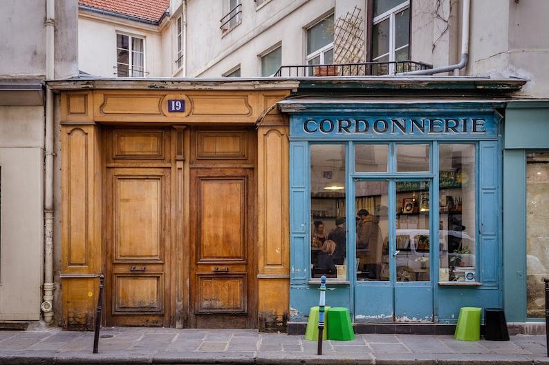 Boot Café Paris fine art paris photography storefront image 0