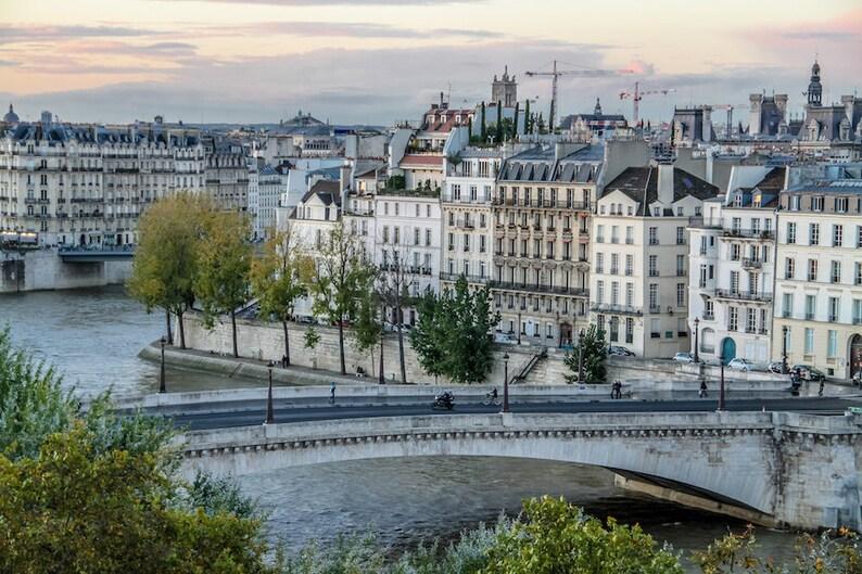 Parisian façade and rooftop view fine art paris photography image 0