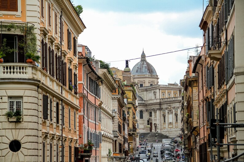 Rome Italy skyline Falling Off Bicycles fine art travel image 0