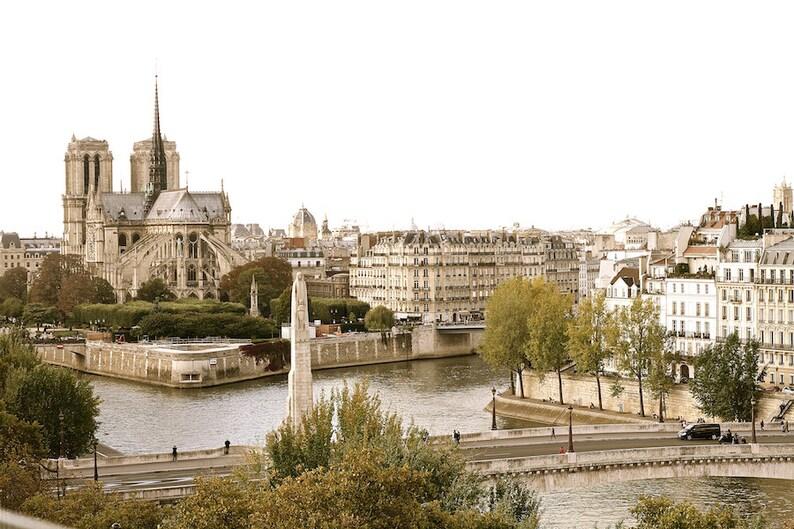 Parisian aerial view Notre Dame de Paris fine art paris image 0