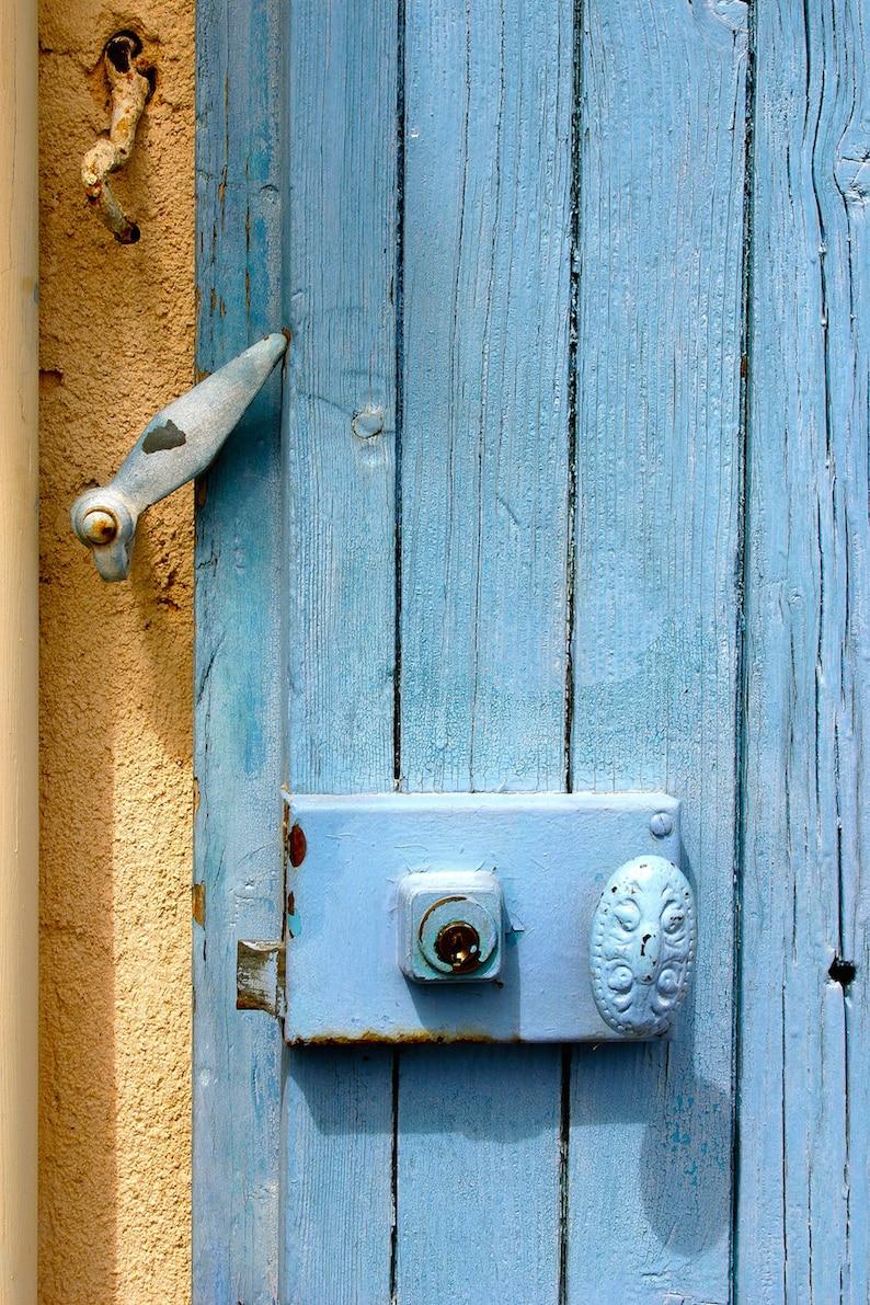 Provence blue door pastel color door fine art paris image 0