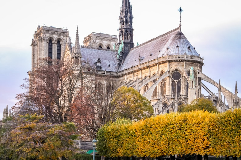 Notre Dame de Paris Fall photograph fine art Paris image 0