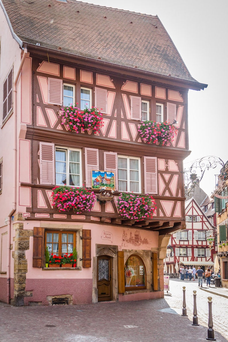 Colorful Colmar Alsace France photo Falling Off Bicycles image 0