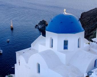 Santorini view by Julia Willard of Falling Off Bicycles, Mediterranean Sea photo, fine art photography, travel photo