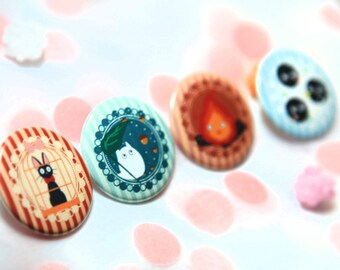 Ghibli 1.5 inch Buttons