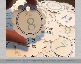 ff4ab45be9dc Flip Flop Size Tags • Flip Flops for Wedding Guests Sign • Wedding Flip Flop  Basket • Custom Size Tags