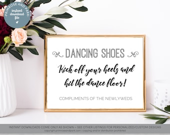 36c998d3a1f645 Flip Flop Basket Sign • Wedding Signage • Printable Wedding Signs • Instant  Download