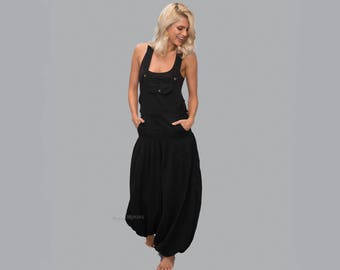 c325ac81f70 Cotton Baggy Overalls