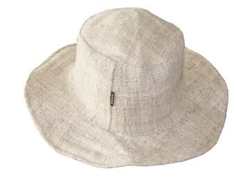 384c6bac Hemp Sun Hat , Natural Hippie hat - Beach Panama Hat Unisex