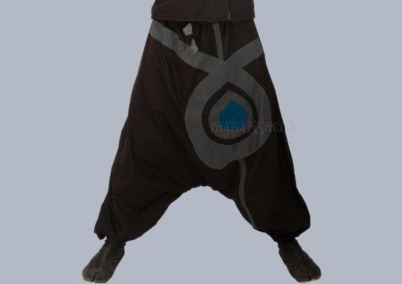 Harem broek Aladdin broeken Afghani broek Alibaba broek mannen vrouwen Petite grootte katoen