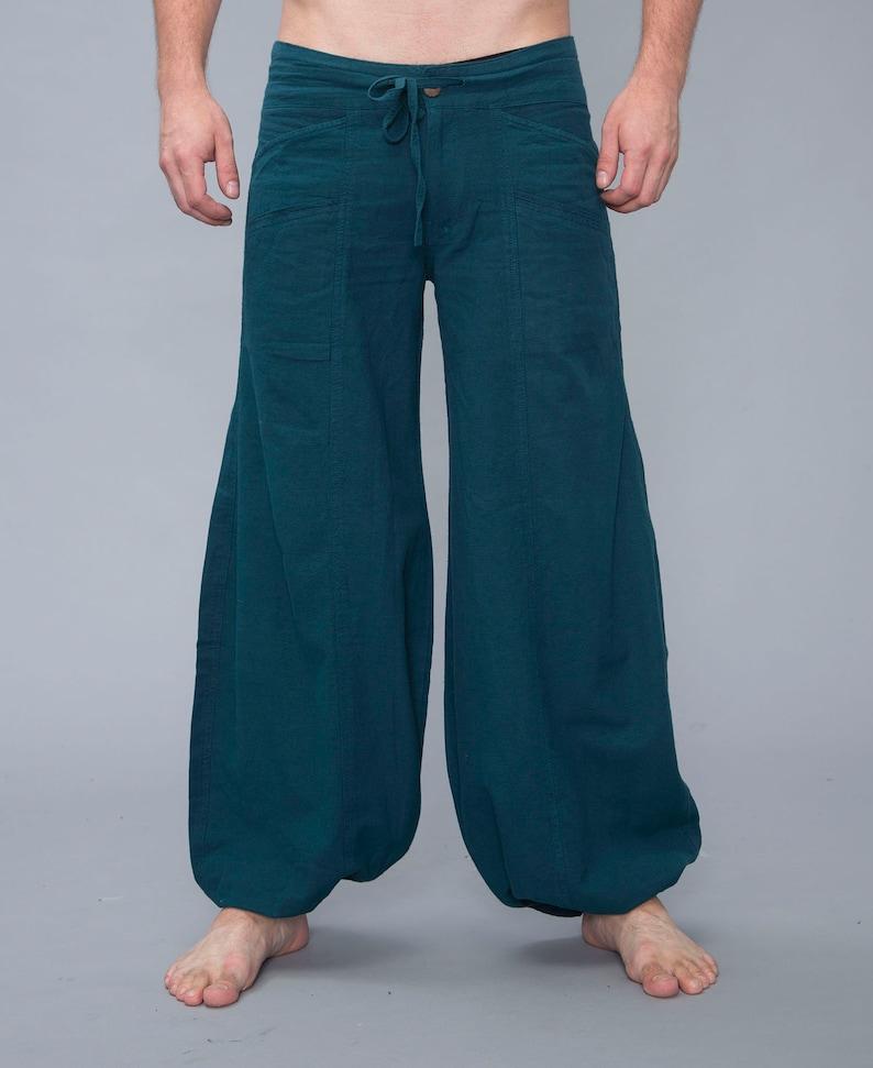 Cotton light Hippie pants Harem Pants Unisex Baggy Pants men Wide Pants