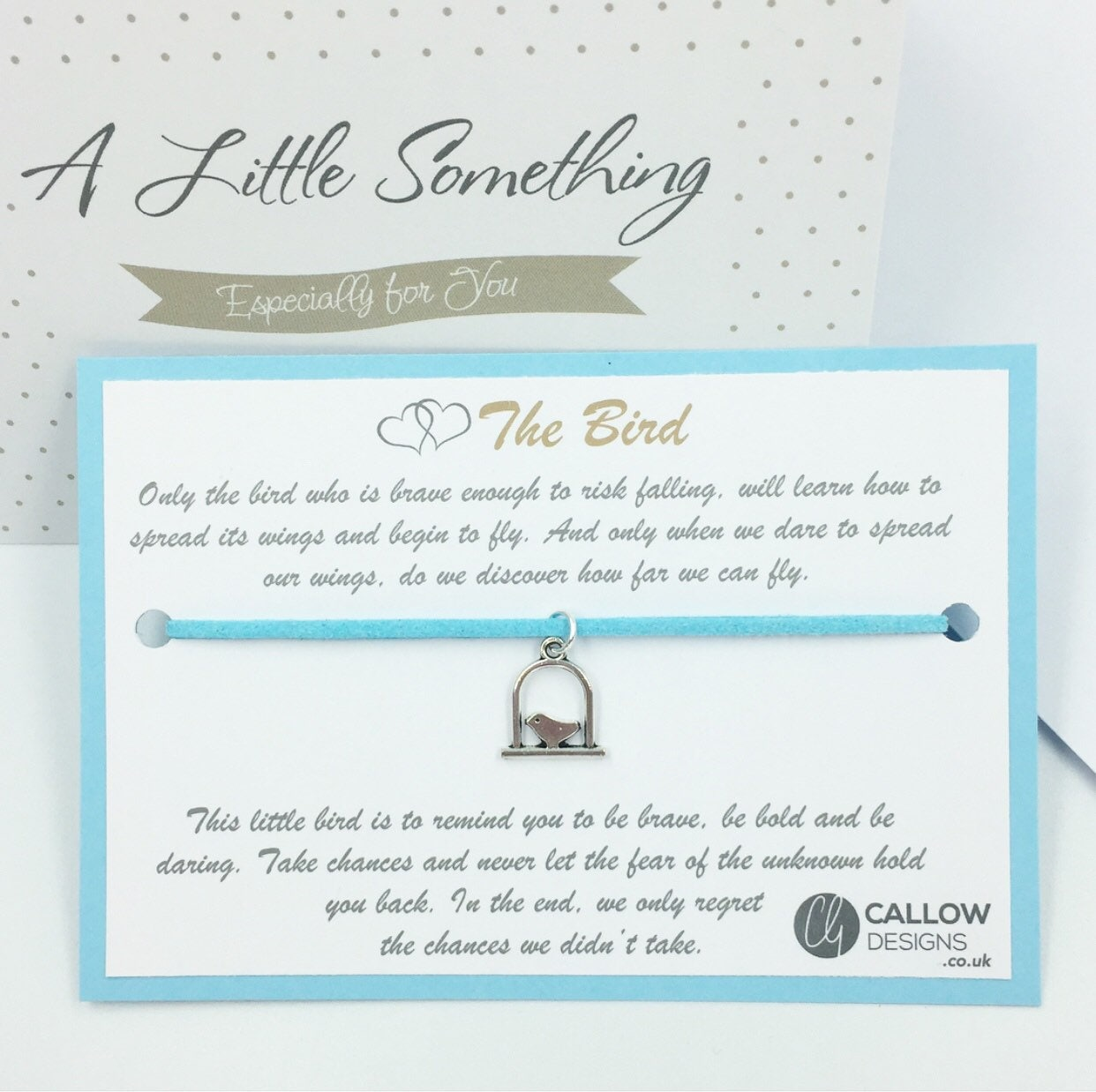 The Bird Greetings Card And Charm Wish Bracelet Meaning Quote