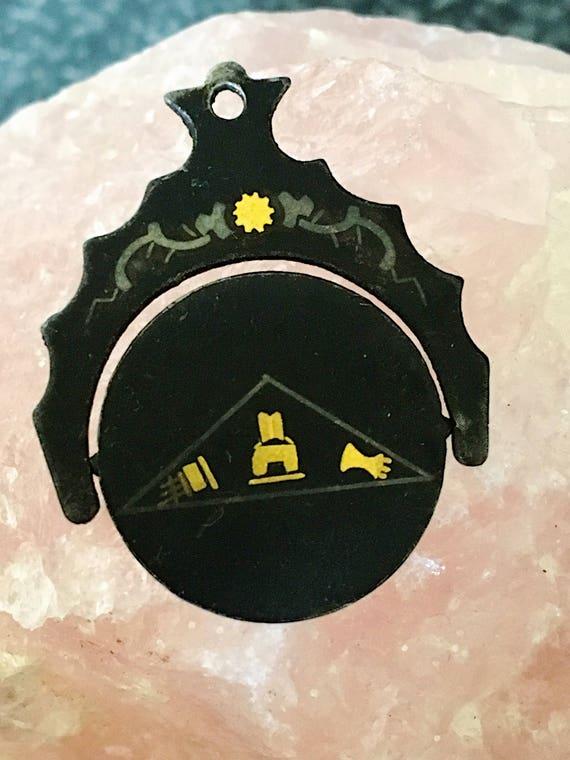 Vintage Masonic Fob Spinner, Antique Eastern Star… - image 8