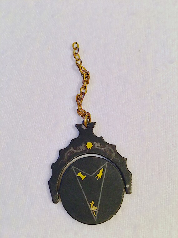 Vintage Masonic Fob Spinner, Antique Eastern Star… - image 2