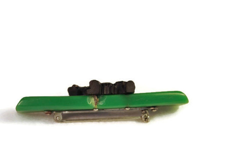 carved bakelite Dog Pin Vintage Bakelite Scotty Dog Brooch