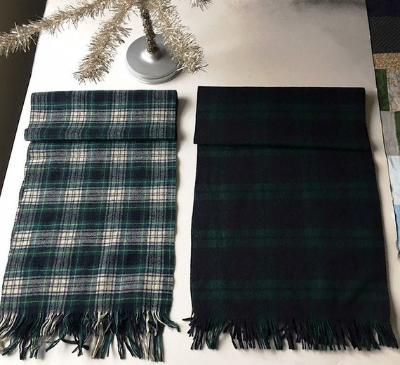 Vintage Pendleton Wool Scarf, Authentic Campbell T