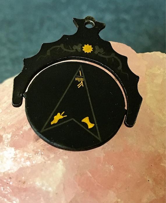 Vintage Masonic Fob Spinner, Antique Eastern Star… - image 4