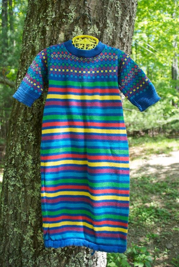 9048488cd 50% off SALE Vintage baby dress. Infant cotton knit sweater