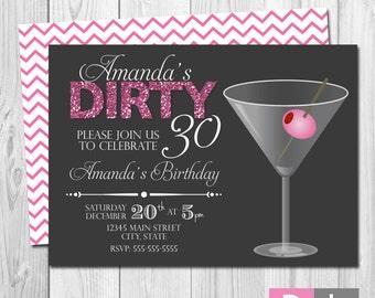 Dirty Thirty Invite Etsy