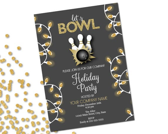 company holiday party invitation bowling party holiday bowling