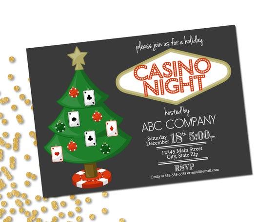 holiday party invitation company casino holiday party company