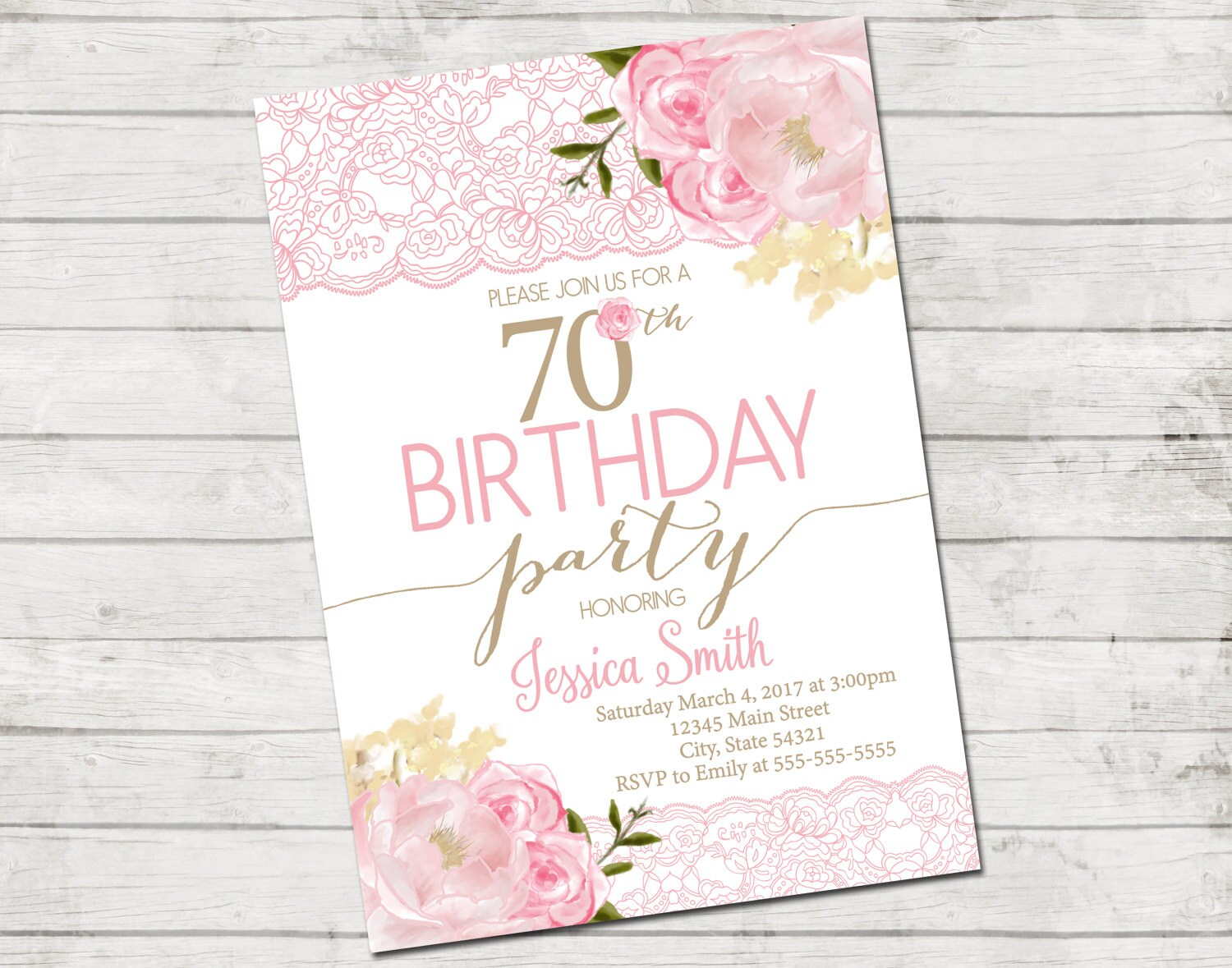 70th birthday party invitation 70th birthday flowers and etsy zoom izmirmasajfo