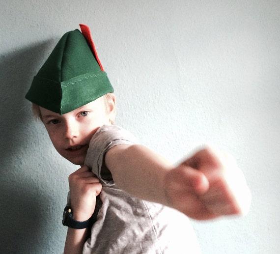Robin Des Bois Chapeau Vert avec Plume Allemande Bavaroise Déguisement Adulte Peter Pan