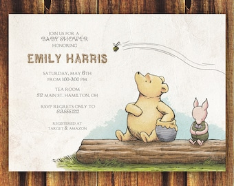 Winnie The Pooh Baby Shower Party Theme Diy Kit Etsy