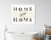 Home Sweet Home, Downloadable, Printable Art ,Floral Letters, Honeycomb, Sweetest, Family Gathering, Thanksgiving