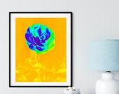 Rose Art Decor, RoseYellow, Rose Gold Art, Beautiful Decor, BotanicalWall Art, Flower Art Print, Contemporary Design, Modern Nature Art,