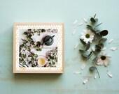 Zen Green Tea, Digital Art, Holistic Art Download, Printable Wall Art, Uptown Loft Decor, Bee Wall Decor, Flower, Tea Ceremony, High Tea