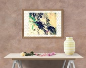 Downloadable Botanical Art, Leaves,Berries, Bee Honeycomb, Printable Impressionistic Fine Art Photography,, Gardeners Spring Wall