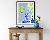 Iris Flower Art, Spring Floral Art, Botanical Print, Nature Wall Decor, Garden Lovers Gift, Purple Religious Image , Easter Prayer Image