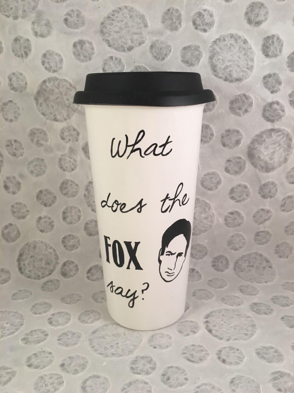 x files was bedeutet fox sagen travel mug etsy. Black Bedroom Furniture Sets. Home Design Ideas
