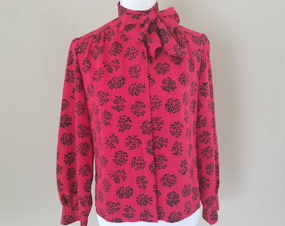 Button Down Red Blouse - Country Sophisticates Petite by Pendleton