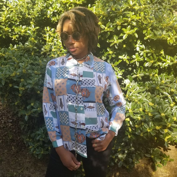 Mixed Print Pastel Button Down - Helios Collection